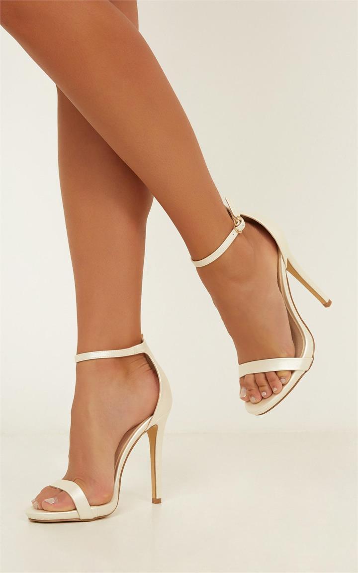Billini Timeless Heels In Light Gold Metallic